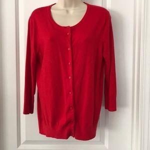 Ellen Tracy Red Sweater